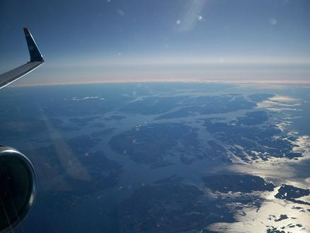 The west coast of Norway where, a few days ago, I stood upon the ground and drove the winding roads.
