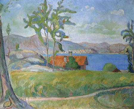 Oluf Wold-Torne, Landscape from Holmsbu, 1911