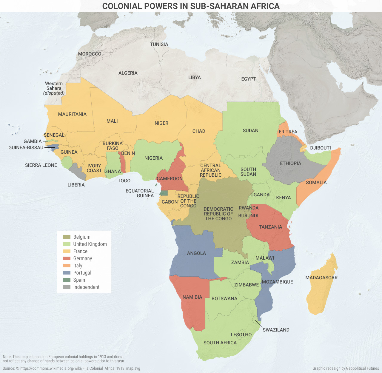 Colonial Powers In Sub Saharan Africa