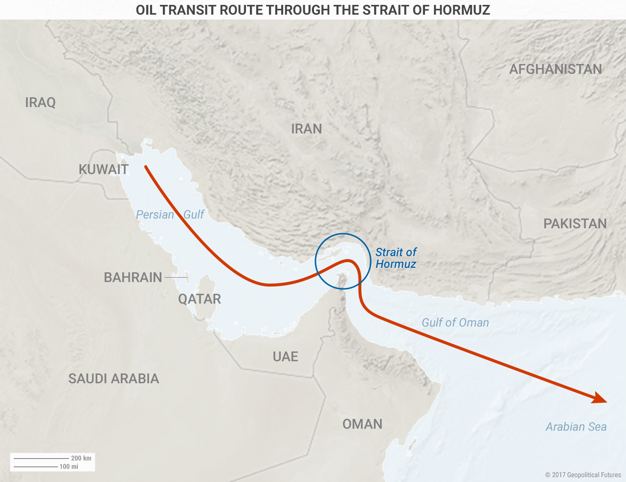 Major Choke Points In The Persian Gulf And East Asia