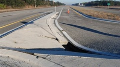 Sinkhole on US 27 in mid January 2010 near Plant City, Florida