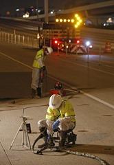 Nortex employees stabilizing Houston area freeway with TerraThane Polyurethane Foam