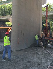 Nicholson Construction stabilizes pier on I-65 using micropiles and low-mobility grouting