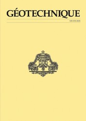 Gèotechnique geotechnical journal