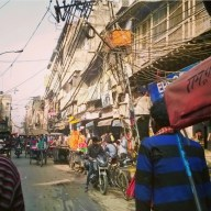 Travelling through Old Delhi to get to Chandni Chowk