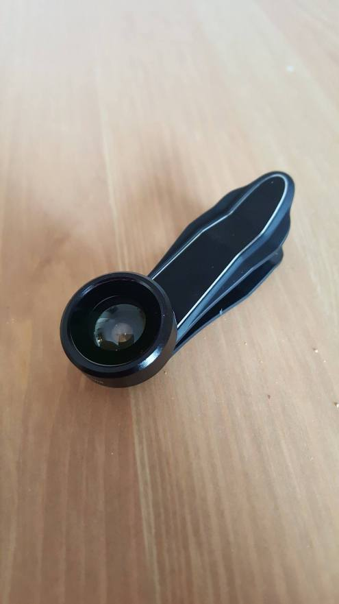 The Clip with Fisheye Lens attached