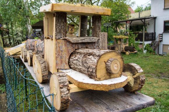 Blühende Garteneinsenbahn - Bild Nr. 201404270941