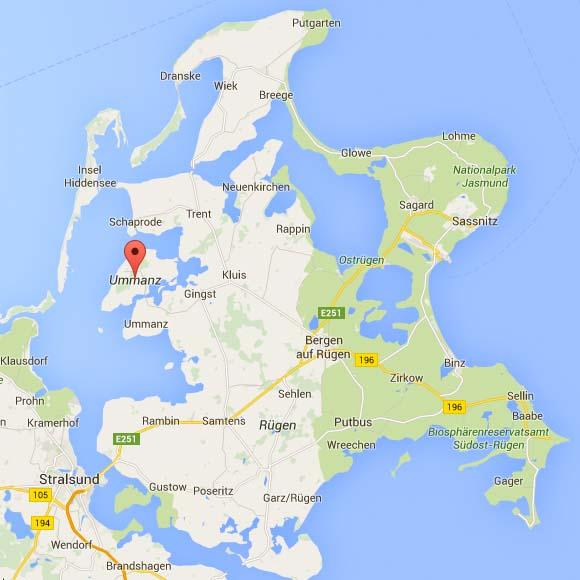 Google Maps: Rügen und Ummanz