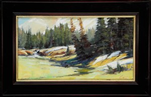 Last Snowfield in June 11x20