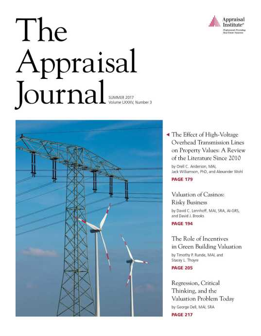 Cover Summer Issue of The Appraisal Journal