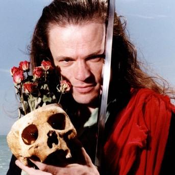 George Dillon as Hamlet