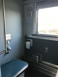 Private toilet in the Economy berth (the one I almost fell into!)