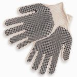 Reversible String Knit Glove with Dotted Palm