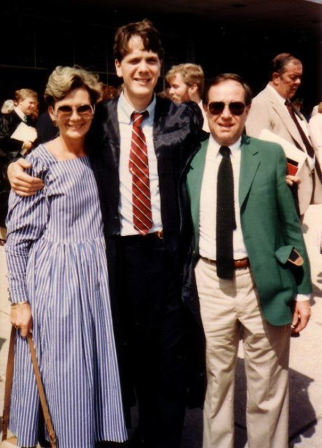 Mom, brother Mark and Dad at Mark's graduation from Miami University.