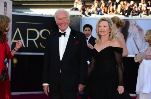 Christopher Plummer and Elaine Taylor (photo by Frederic J. Brown – © 2013 AFP)