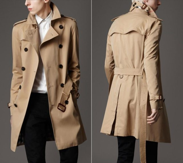 Mid-Length Cotton Gabardine Trench Coat from Burberry.