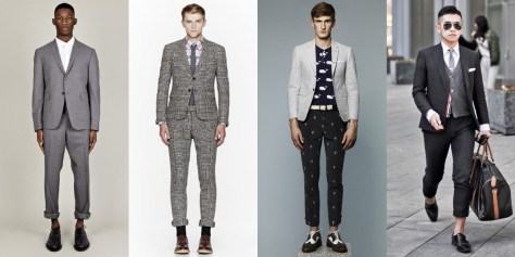 Images 1 - 3, Thom Browne look book. Image 4 from tomimito.com