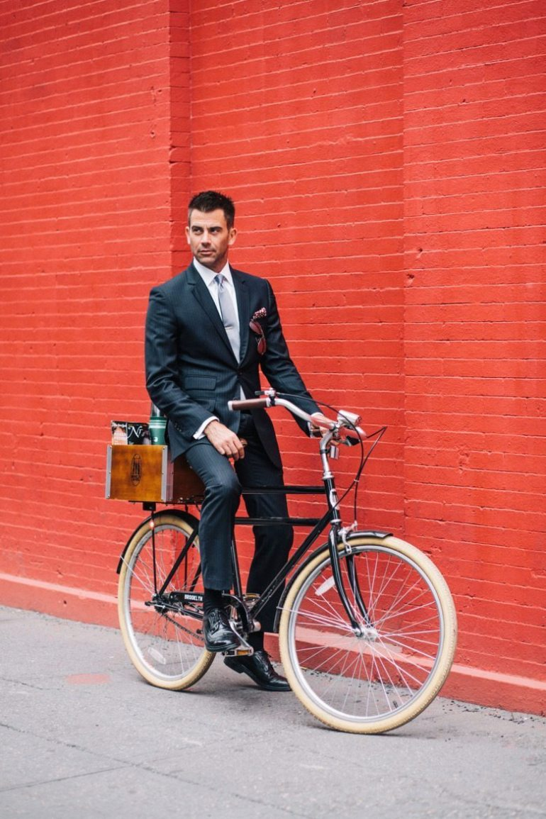 Yours truly, photographed by Sam Polcer for his book 'New York Bike Style' in 2013.