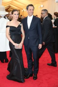 """Seth Meyers. Technically wearing """"a white tie,"""" but just the wrong kind."""