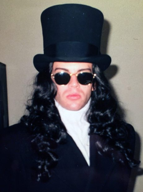 As Gary Oldman's Dracula in Boston, 1993. I was taking things way too seriously.