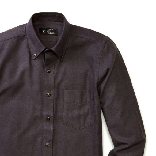 Charcoal Grey Flannel Button-Down shirt