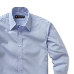 Light Blue Poplin Semi-Spread Collar shirt