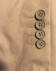 Sleeve button detail.