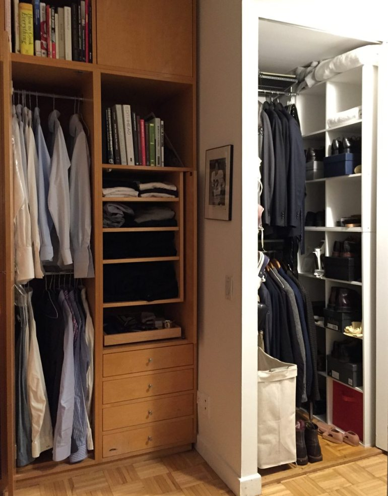 Everything. (My outerwear is in another closet, smaller than these.)