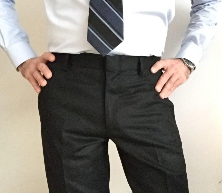 Ludlow Suit Pants in Italian wool flannel (black).