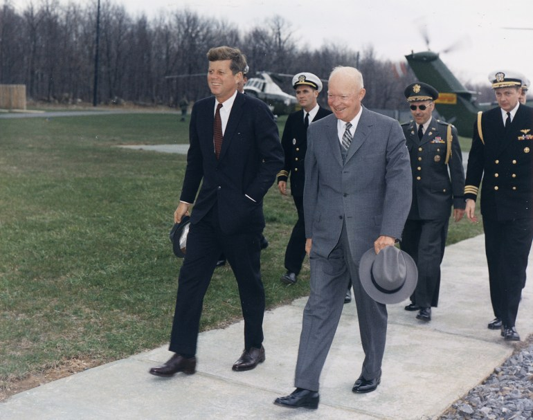 With President Eisenhower.