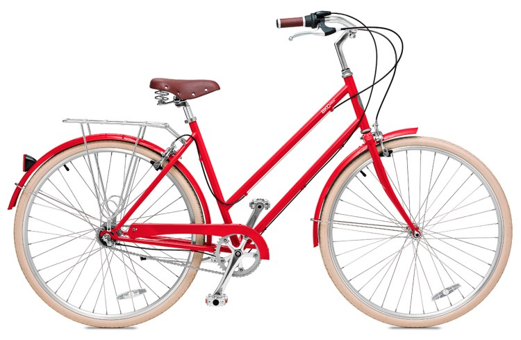 """The """"Willow 3"""" in Cardinal Red from Brooklyn Bicycle Co."""