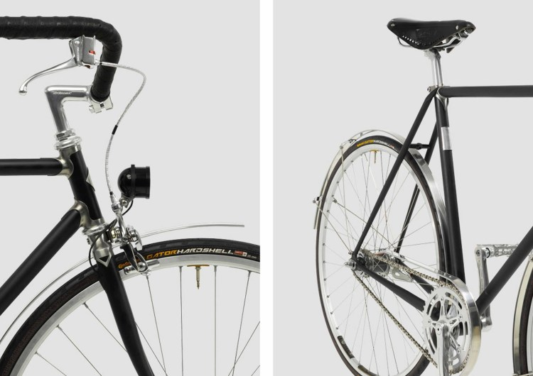 """Detail of the """"Roadster"""" from Vickers Bicycles."""