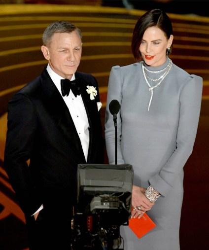 Daniel Craig and Charlize Theron.