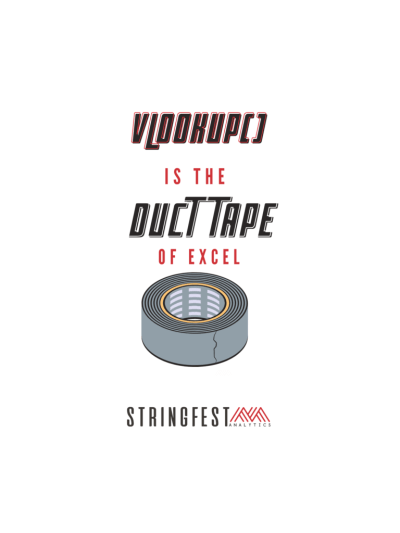 VLOOKUP() is the duct tape of Excel!  Quote