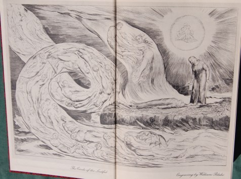 Front Endpaper - The sole engraving in the work, this embodies Blake's surrealism beautifully.