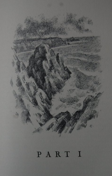 Part I - One of twenty lithographs in the book, Berg's oceanic lithographs are quite fetching.