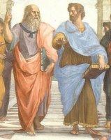 """Platón y Aristóteles. """"La Academía Platónica"""" Rafael."""