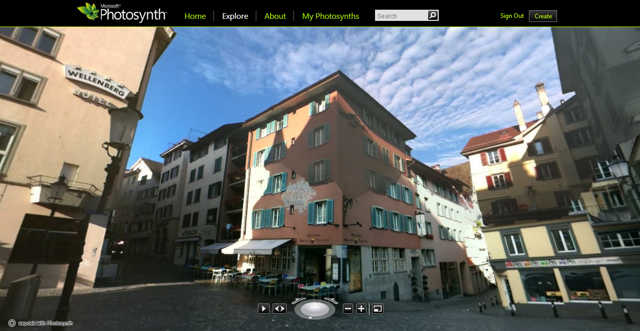 A photosynth in Zurich