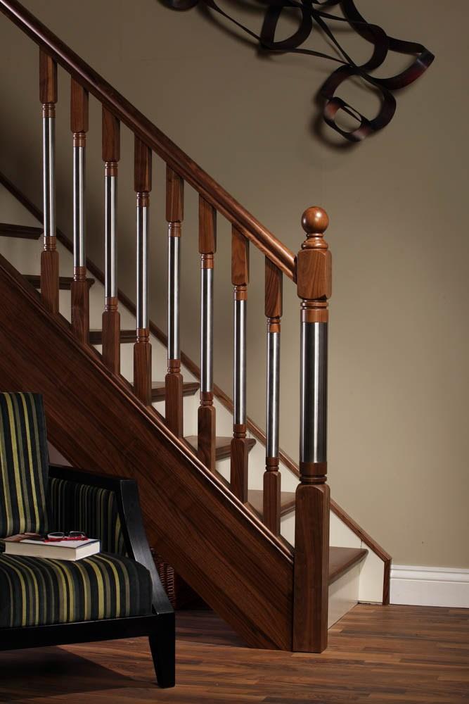 Erne Metal Spindles 1100Mm X 46Mm X 46Mm Gq   Modern Metal Stair Spindles