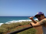 On Maui with Joe Benedett.