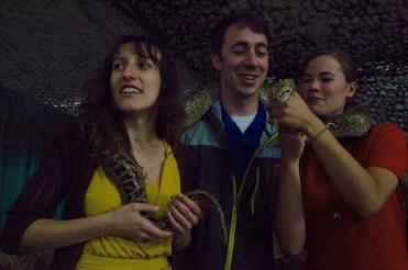 Simina in Portland with fellow journalists Luke Hammill and Andrea Castillo.