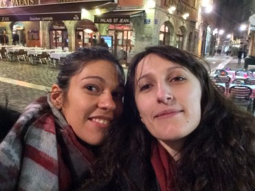 Oana, a best friend from high school, with Simina in Lyon, France, in May 2015. Oana has lived in France for about nine years, but the two friends make a point out of visiting each other.