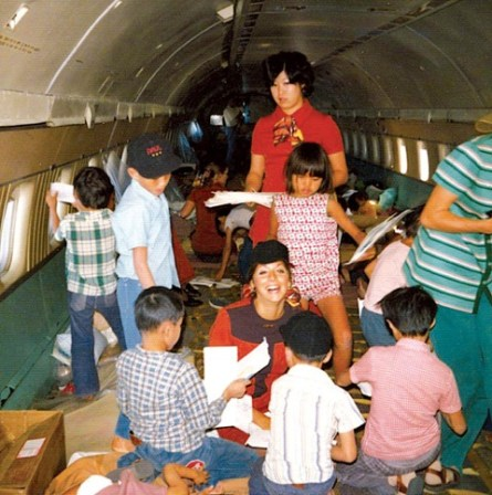 More than 3,000 children were airlifted from Saigon to the United States in 1975.