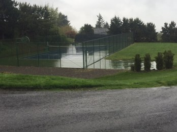 Private tennis court owned by the Hessler Heights Neighborhood Association.