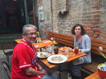 George with Cincinnati native Rachel Lippolis.