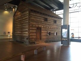 A well-preserved slave pen is on displat at the National Underground Railroad Freedom Center.
