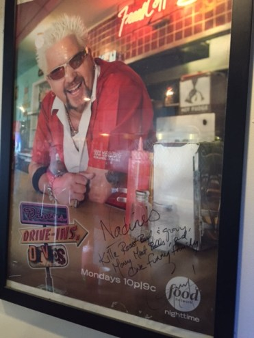 Nadine's gets the seal of approval from the Food Network's Guy Fieri.
