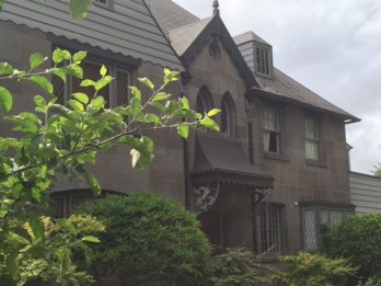 The 6-inch-thick walls on this home were made from basalt quarried at Rocky Butte.