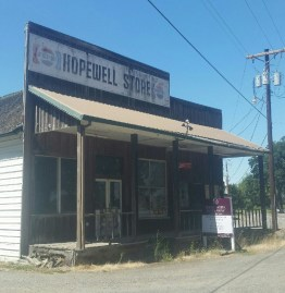 The Hopewell Store is closed and awaiting a new future. Perhaps as a wine tasting room?