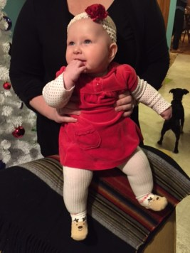 Emalyn in her Christmas dress.